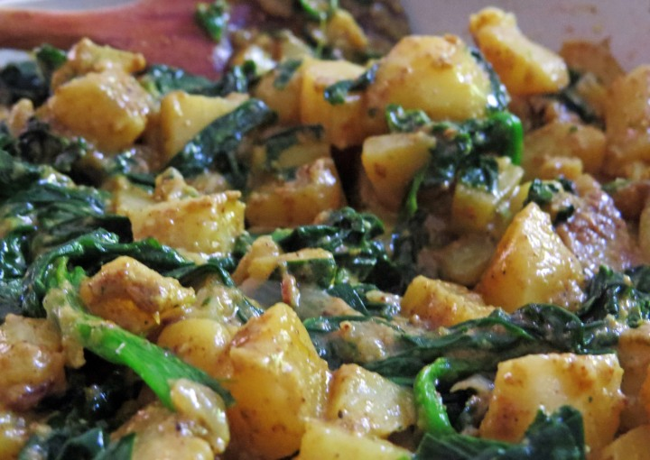 Aloo Palak Finished 2